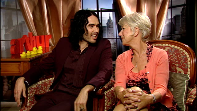 Dame Helen Mirren and Russell Brand star in remake of Arthur Russell Brand interview SOT I can see that that was a stupid thing to say in retrospect