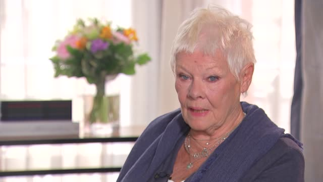dame judi dench interview england london int dame judi dench interview sot - judi dench stock videos & royalty-free footage