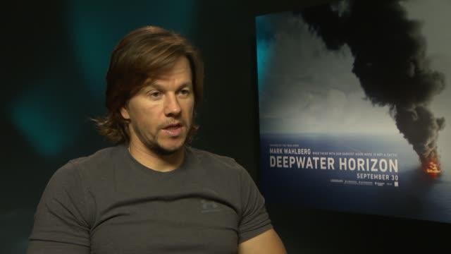 'Deepwater Horizon' Mark Wahlberg interview ENGLAND London INT Mark Wahlberg interview SOT