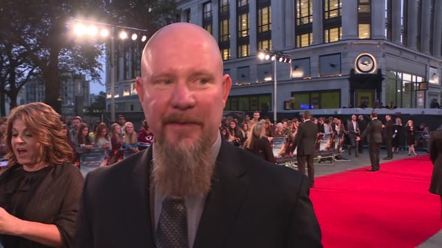 'deepwater horizon' premiere; mike williams interview sot - on watching the film back / on his daughter being in the film / wahlberg and williams... - mike rutherford stock videos & royalty-free footage