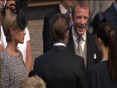 Film Director Guy Ritchie chats to David and Victoria Beckham on the occasion of the Royal Wedding of Prince William and Catherine Middleton
