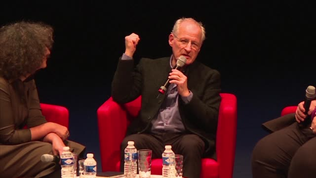 us film director michael mann speaks at a panel discussion in lyon during the 9th edition of lumiere film festival - michael mann film director stock videos & royalty-free footage