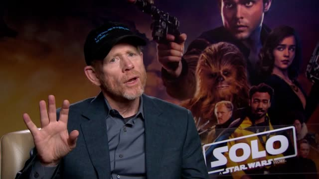 Film director Ron Howard on his new film Solo A Star Wars Story as he was brought in late to finish the film