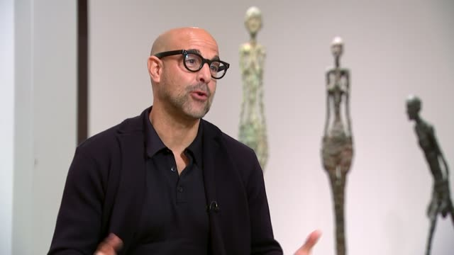 Director Stanley Tucci discusses his new film about artist Alberto Giacometti ENGLAND London Tate Modern INT Stanley Tucci interview SOT