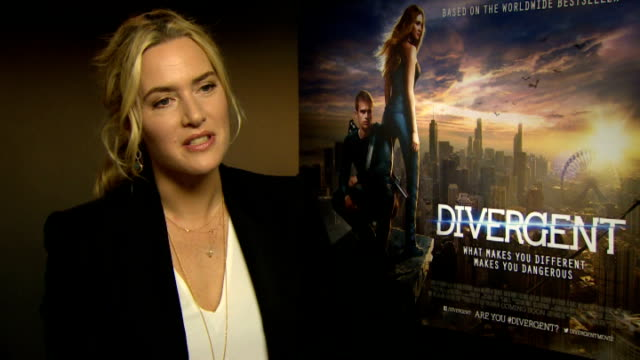 'divergent' kate winslet interview england london int kate winslet interview sot - kate winslet stock videos and b-roll footage