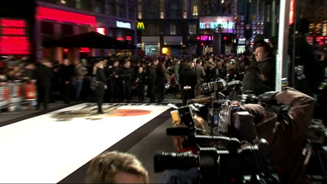 'Django Unchained' premiere Red carpet arrivals ENGLAND London EXT **Music heard in background SOT** General views of red carpet / wide shot of...