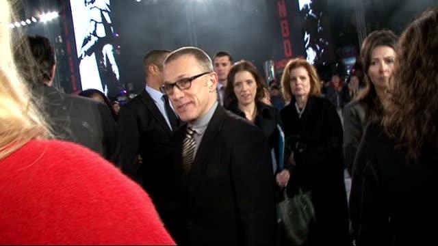 'Django Unchained' premiere Red carpet arrivals Kerry Washington interview SOT / Samuel L Jackson speaking to press / Christoph Waltz interview SOT /...