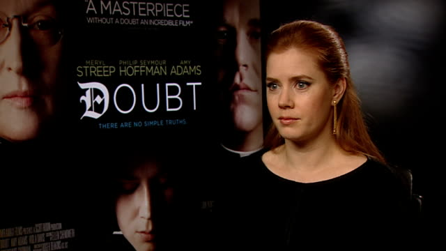 'Doubt' interviews Amy Adams interview SOT discusses role in 'Doubt'