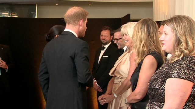 duke and duchess of sussex attend the lion king premiere england london leicester square int prince harry duke of sussex and meghan duchess of sussex... - meghan duchess of sussex stock videos and b-roll footage