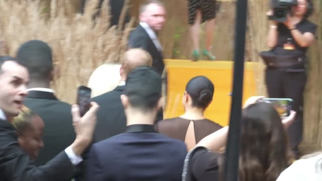 duke and duchess of sussex have joined stars at the european premiere of the lion king england london leicester square ext prince harry duke of... - meghan duchess of sussex stock videos and b-roll footage