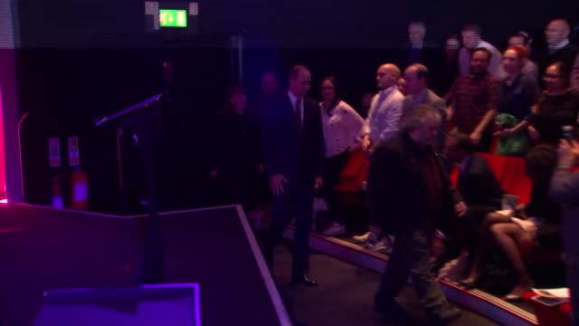 duke of cambridge attends 'they shall not grow old' premiere england london waterloo bfi southbank audience stands as prince william duke of... - bfi southbank stock videos & royalty-free footage