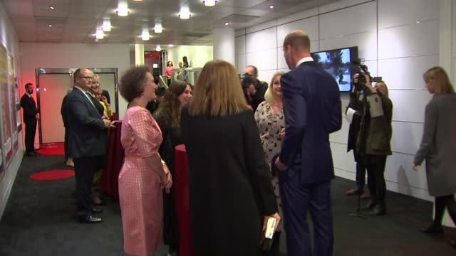 duke of cambridge attends 'they shall not grow old' premiere; england: london: waterloo: bfi southbank: int prince william, duke of cambridge along... - bfi southbank stock videos & royalty-free footage