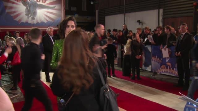 'Dumbo' European premiere red carpet interviews ENGLAND London Curzon Mayfair Eva Green GVs and interview SOT