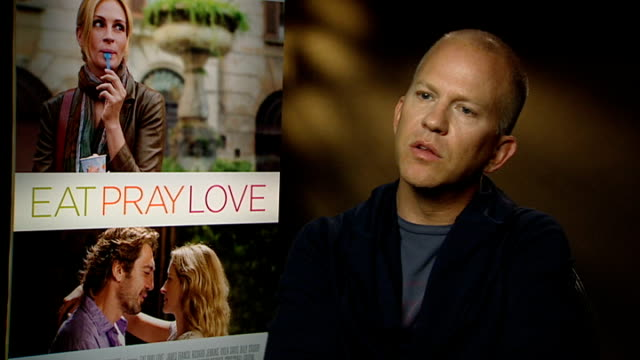 'eat pray love' film interviews ryan murphy interview sot was a fan of the book before doing the movie / related to the idea about changing my life /... - javier bardem stock videos and b-roll footage