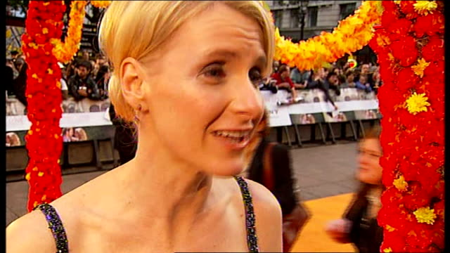 'eat pray love' film premiere england london leicester square elizabeth gilbert interview sot on being at the premiere / living a fantasy of being... - javier bardem stock videos and b-roll footage