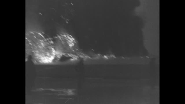 film editor's note hindenburg explodes lakehurst nj following blue print made from negative received from navy dept via denton first blue regular... - ヒンデンブルク号点の映像素材/bロール