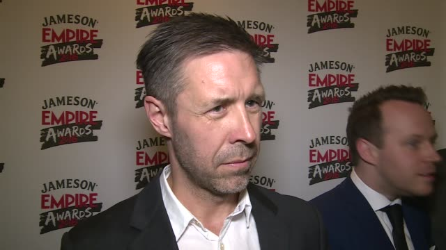 Empire Awards 2016 Red carpet arrivals / winners' room **BEWARE Paddy Considine interview SOT