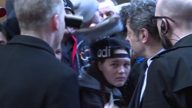 empire awards 2016: red carpet arrivals / winners' room; richard e grant along and interview sot / thomas turgoose interview sot / serkis signing... - richard e. grant stock videos & royalty-free footage
