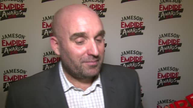 empire awards 2016 red carpet arrivals / winners' room shane meadows interview sot - shane meadows stock videos and b-roll footage