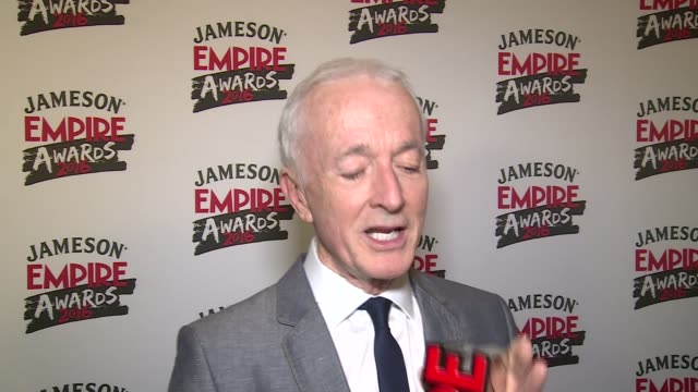 Empire Awards 2016 Red carpet arrivals / winners' room Winners' Room INT Peter Serafinowicz interview SOT / Anthony Daniels interview SOT / Corin...
