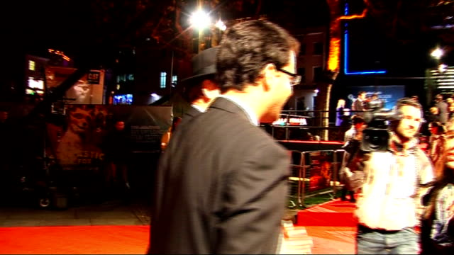 'fantastic mr fox' premiere ben kinglsey on red carpet with his wife daniela lavender/ talking to press/ bill murray talking to press sot best thing... - dahl stock videos and b-roll footage