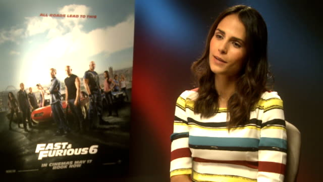 'fast and furious 6': interviews; jordana brewster interview sot / luke evans interview sot / - jordana brewster stock videos & royalty-free footage