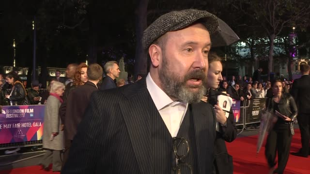 'film stars don't die in liverpool' premiere annette bening gvs on red carpet frances barber interview sot paul mcguigan interview sot clare stewart... - annette bening stock videos & royalty-free footage