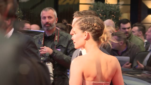 'film stars don't die in liverpool' premiere england london leicester square ext gvs jamie bell and kate mara on red carpet / jamie bell / jamie bell... - kate mara stock videos and b-roll footage