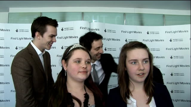 first light awards interviews with award winners interview with cast of misfits sot on film clubs interview with club flix juniors with ralf little... - jason isaacs stock videos & royalty-free footage