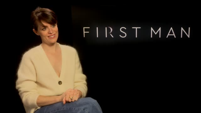 'First Man' Claire Foy interview ENGLAND London INT Claire Foy interview SOT