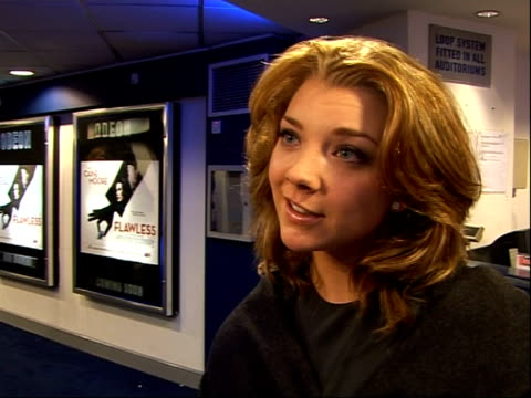 'flawless' film premiere arrivals and interviews england london int natalie dormer interview sot meeting demi moore was like meeting an icon for an... - dormer stock videos and b-roll footage