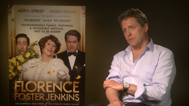 'florence foster jenkins' hugh grant and simon helberg interviews england london int hugh grant interview sot simon helberg interview sot - simon helberg stock videos and b-roll footage