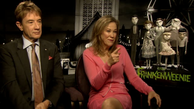 'frankenweenie' cast and director interviews martin short and catherine o'hara interview sot - martin short stock videos & royalty-free footage