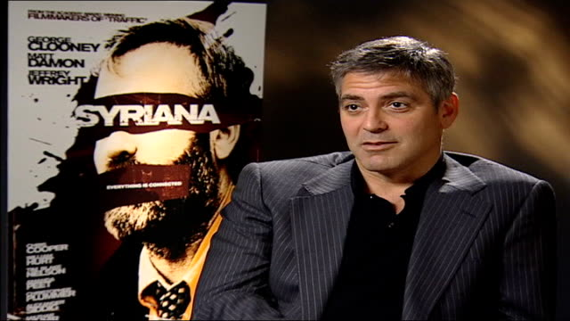 george clooney attacked by right-wing critics; george clooney interview sot - i felt isolated for a while, it was a strange time, similarities to... - an answer film title stock videos & royalty-free footage