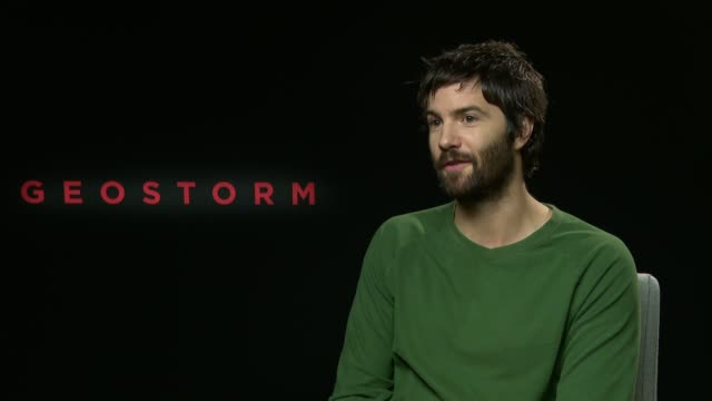 'Geostorm' junket interviews with Jim Sturgess and Gerard Butler ENGLAND London INT Jim Sturgess interview SOT / Gerard Butler interview SOT