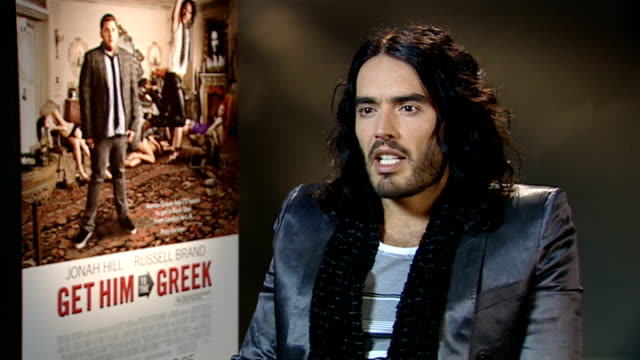 'Get Him to the Greek' interviews with Russell Brand and Jonah Hill Russell Brand interview SOT On England's chances in World Cup victory at all...