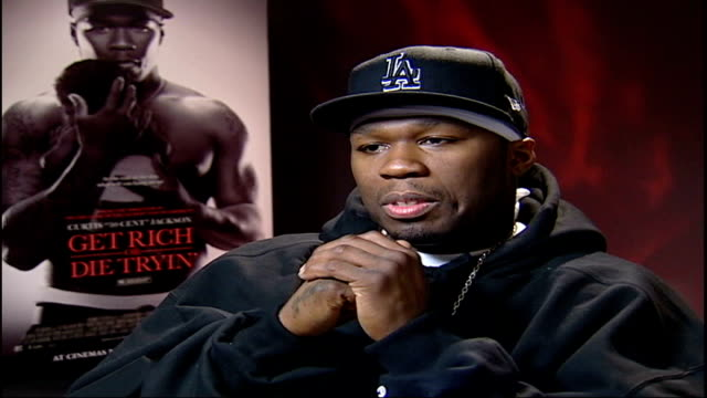 'get rich or die tryin' 50 cent interview sot shots fired / challenging scenes - {{relatedsearchurl(carousel.phrase)}} stock videos & royalty-free footage
