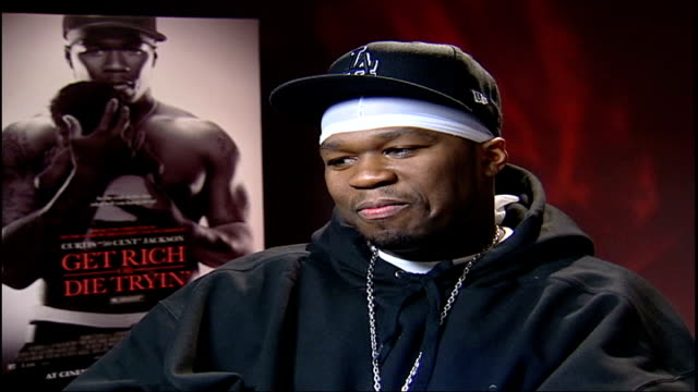 'get rich or die tryin' 50 cent interview sot the script had relevance to my own experiences/ making transition from pop music to acting was a... - {{ collectponotification.cta }} stock videos & royalty-free footage