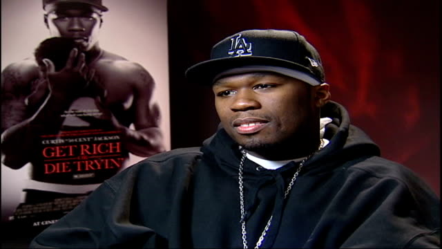 'get rich or die tryin' 50 cent interview sot the whole film has been like therapy for me/ being 'shot' in the film was difficult - fifty cent coin stock videos and b-roll footage