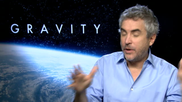 'gravity' sandra bullock and alfonso cuaron interviews alfonso cuaron interview sot - alfonso cuaron stock videos & royalty-free footage