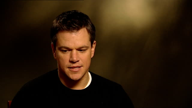 'green zone' matt damon interview england london int matt damon interview sot on his new movie the green zone being a movie about the real world but... - damon green stock videos and b-roll footage