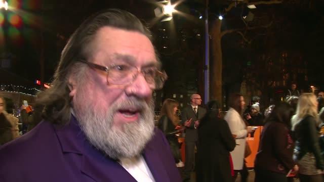 'Grimsby' premiere Red carpet arrivals Ricky Tomlinson interview SOT / John Thomson interview SOT / Isla Fisher interview SOT / Annabelle Wallis...