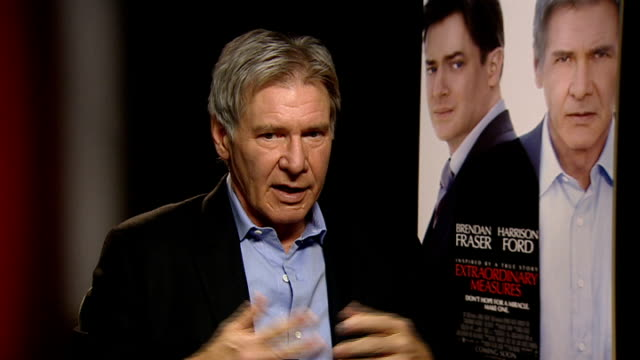 harrison ford interview england london int harrison ford interview sot on being a father and the plot of 'extraordinary measures' / working as an... - star wars stock videos & royalty-free footage