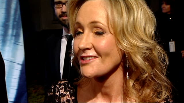 'harry potter and the deathly hallows' world premiere: arrivals; jk rowling photocall on red carpet/ j.k. rowling talking to press on red carpet jk... - husband stock videos & royalty-free footage