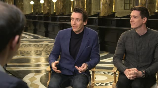 harry potter studio tour to add gringotts bank set england hertfordshire watford leavesden int james phelps and oliver phelps interview sot down to... - harry potter stock videos & royalty-free footage