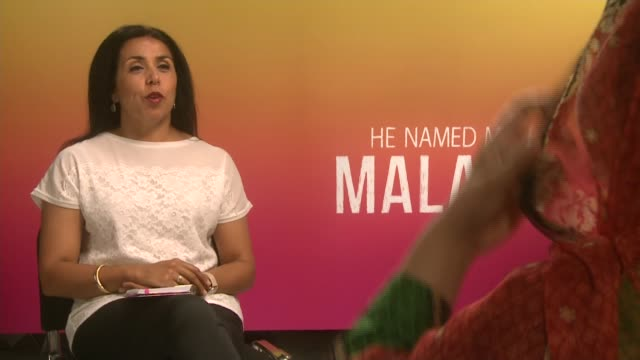 'he named me malala' documentary england int malala yousafzai interview sot re her 'normal' home and school life/ - ドキュメンタリー映画点の映像素材/bロール