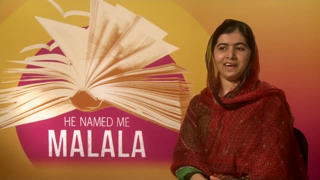'he named me malala' documentary; malala yousafzai interview sot - on her birmingham accent - documentary film stock videos & royalty-free footage