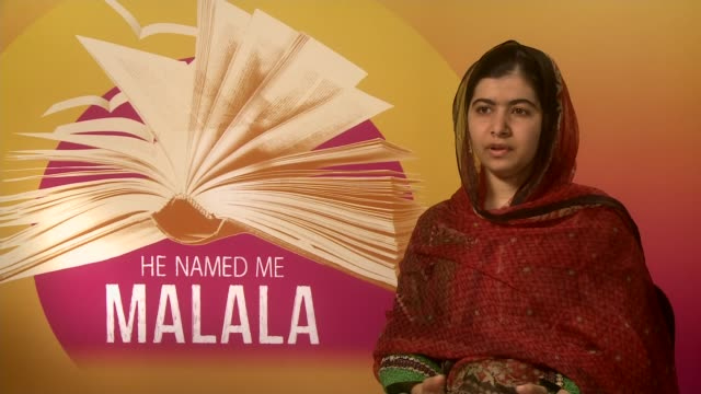 'he named me malala' documentary; malala yousafzai interview sot - would like to go to oxford university and study ppe - documentary film stock videos & royalty-free footage