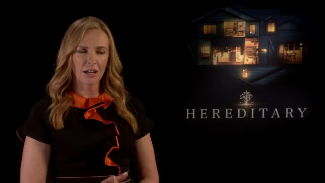 toni collette junket interview; england: london: int toni collette interview re her new film 'hereditary' sot - toni collette stock videos & royalty-free footage