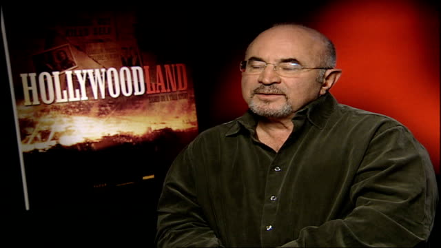 'hollywoodland' interviews with cast members bob hoskins interview sot on the role he plays in hollywoodland eddie mannix nasty character /... - ben affleck stock videos and b-roll footage